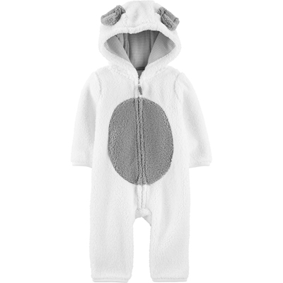 [19283910LH] Carter'sDog Hooded Sherpa Jumpsuit