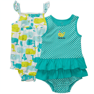 [#216A273BS] Carter's2-Piece Sunsuits
