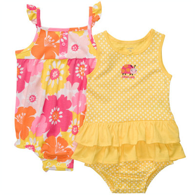 [#216A271BS] Carter's2-Piece Sunsuits