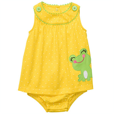 [#216A231BT] Carter's1-Piece Knit Sunsuit