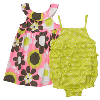 [#216A276BW] Carter'sSunsuit & Dress Set