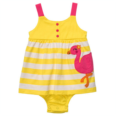 [#216A251BY] Carter's1-Piece Strappy Sunsuit