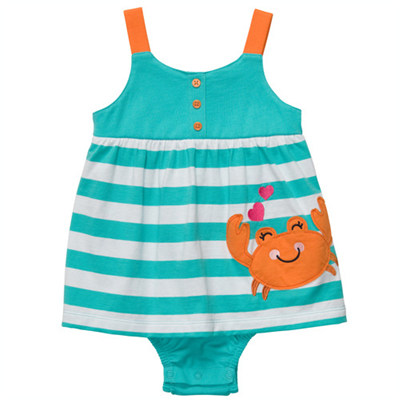 [#216A281BY] Carter's1-Piece Strappy Sunsuit
