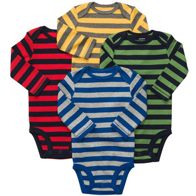 [#111A043B113] Carter's4P Long-Sleeve Bodysuits