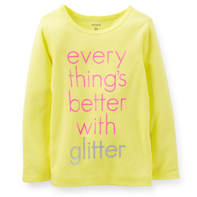 [235B365JQ] Carter'sBetter With Glitter Tee
