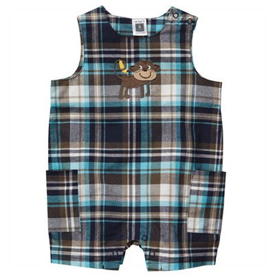 [#202A066AE] Carter'sPlaid Sleeveless Romper