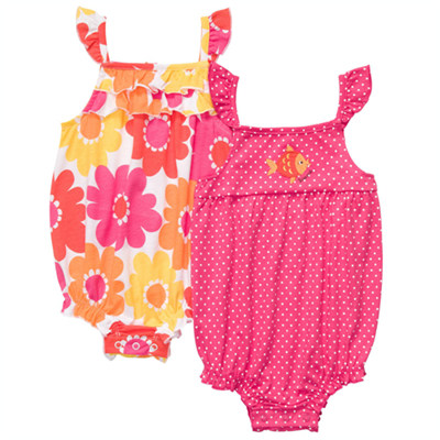 [#216A113AF] Carter'sFlutter Sleeve Sunsuit Set