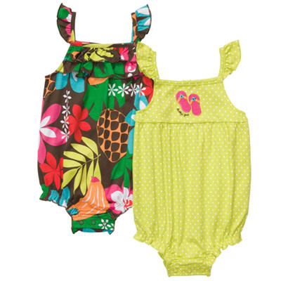 [#216A111AF] Carter'sFlutter Sleeve Sunsuit Set