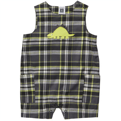 [#202A068AK] Carter'sPlaid Sleeveless Romper